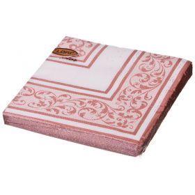 Салфетки бумажные 2-х слойные 33*33 см золото-423-231-2