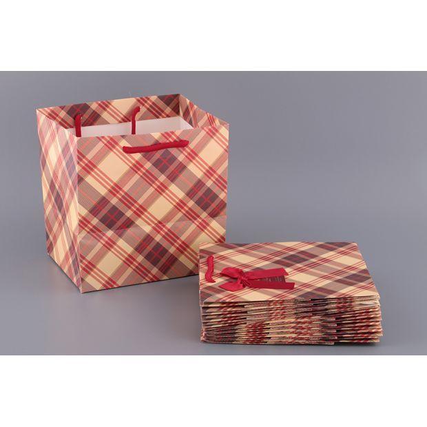 Комплект бумажных пакетов из 10 шт.21*22*16 см-521-084