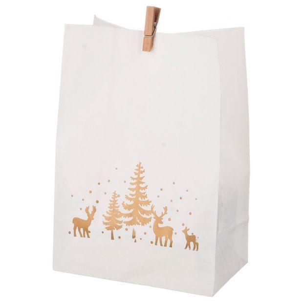 Комплект пакетиков для подарков с прищепкой из 24 шт. 14*20 см (кор=16 комп.)-845-106