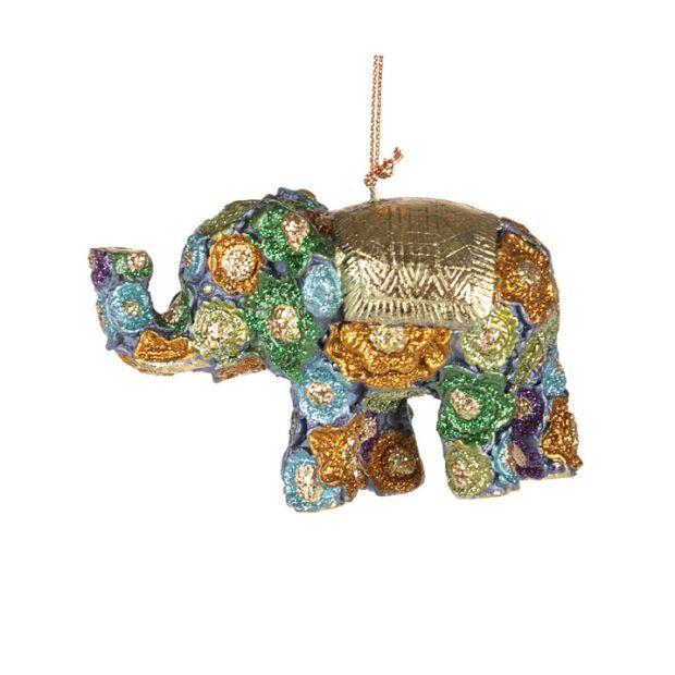 "Елочная игрушка ""слон"" 9 см..без упак.-130-118"