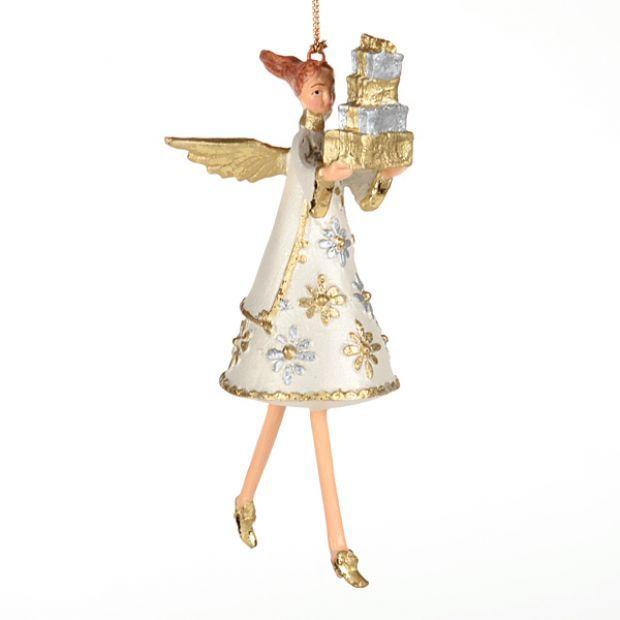 """Елочная игрушка """"ангел с подарками"""" 14 см.без упак.-130-146"""