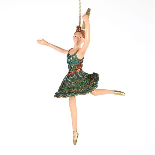 "Елочная игрушка ""балерина"" 14 см.-130-133"