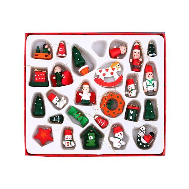 Набор елочных игрушек из 26 шт. 21,5*2*18 см-102-116