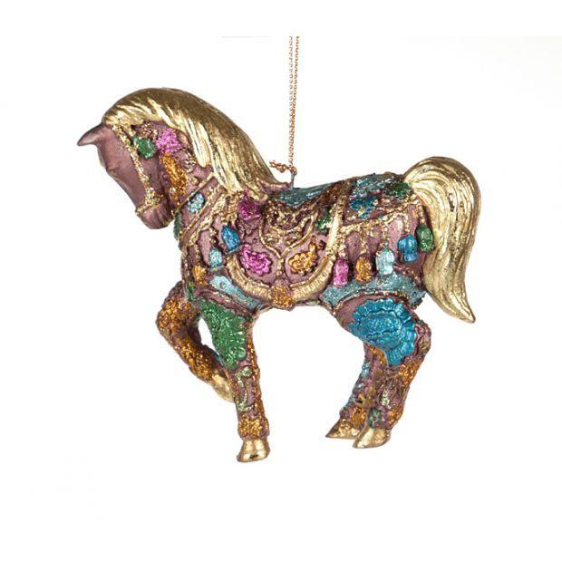 """Елочная игрушка """"лошадь"""" 12 см.без упак.-130-111"""
