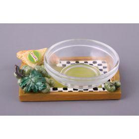 Блюдо для соуса диаметр=8 см.7*10 см.(мал-12/кор=24шт.)-764-009
