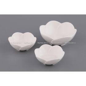 Набор розеток из 3 шт.диаметр=12/9 см.белый