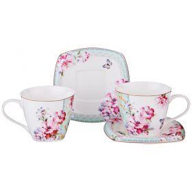 Чайный набор на 2 персоны 4пр. 220 мл-165-420