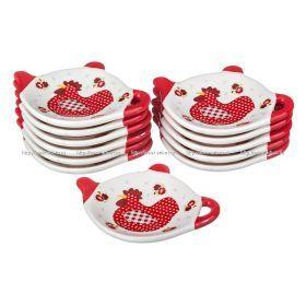 Набор подставок для чайных пакетиков из 12 шт. петушок 10*9*2 см