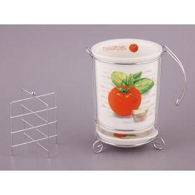 Подставка для кухонных приборов/лопаток на металл.подставке высота=13 см.диаметр=11 см.