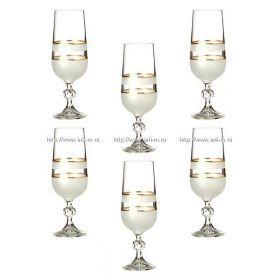 Набор бокалов для шампанского из 6 шт.180 мл.