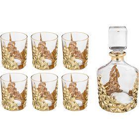 Набор для виски 7 пр.: штоф+6 стаканов 1000/300 мл. высота=25/10 см.-103-569