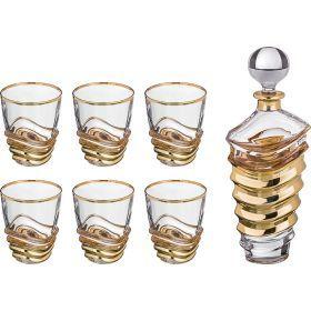 Набор для виски 7 пр.: штоф+6 стаканов 700/300 мл. высота=32/11 см.-103-570