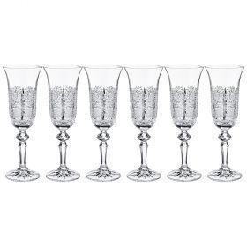 Набор бокалов для вина из 6 шт.  200мл. высота=20,5см.-614-647