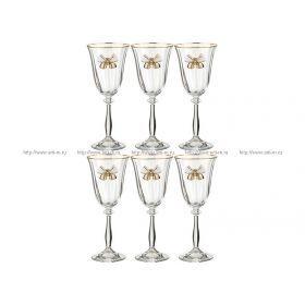 Набор бокалов для вина из 6 шт.анжела оптик 185 мл.высота=20 см.