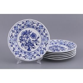 Набор тарелок из 6 шт. луковый узор, диаметр=24 см