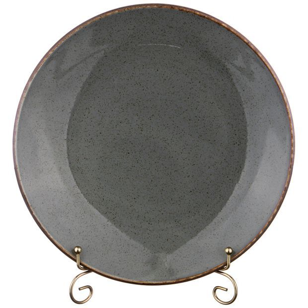 Тарелка seasons 28 см цвет темно-серый (кор=12шт.)-664-187