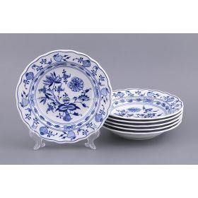 Набор суповых тарелок из 6 шт. луковый узор, диаметр=21 см
