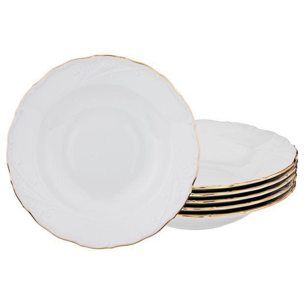 """Набор суповых тарелок из 6 шт. диаметр=23 см.""""лиана 003"""" без упаковки-655-316-7"""