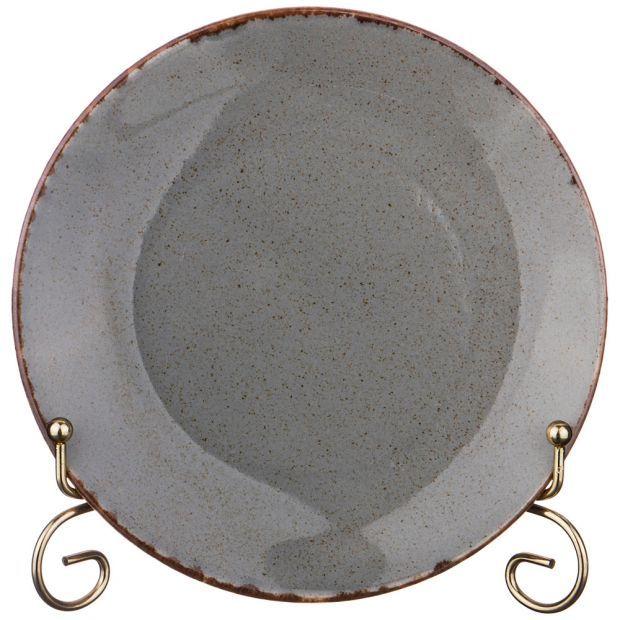 Тарелка seasons 18 см цвет темно-серый (кор=12шт.)-664-175