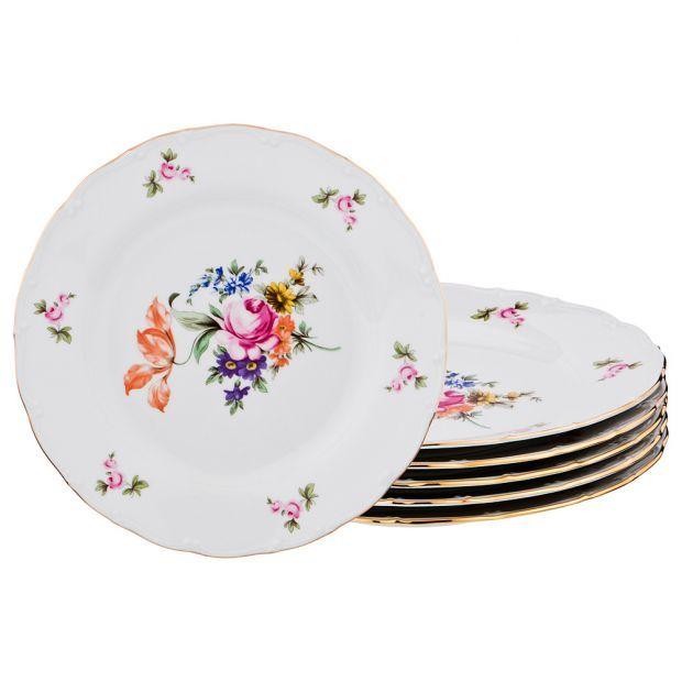 "Набор тарелок из 6 шт. диаметр=25 см. ""майсеновский букет""-655-713-4"