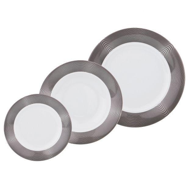 "Набор тарелок из 18 шт.: 23/26/19 см. ""scarabeus sk008""-655-699-1"