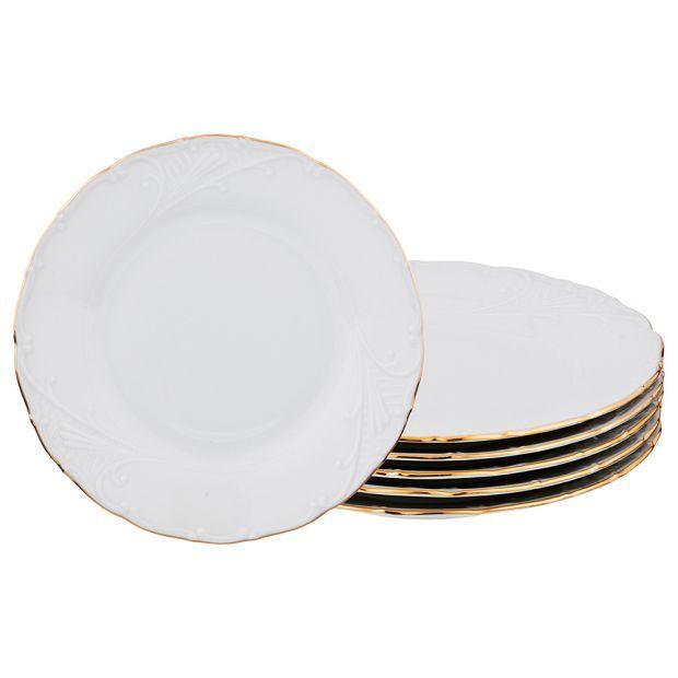 """Набор тарелок из 6 шт. диаметр=19 см.""""лиана 003"""" без упаковки-655-316-5"""