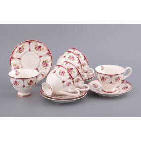 Чайный набор на 6 персон 12 пр.200 мл.-770-126