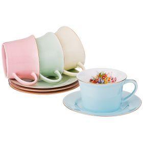 Чайный набор на 4 персоны 8 пр 250 мл.-760-623