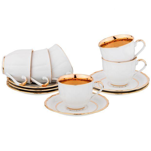 """Чайный набор """"луксор голд"""" на 6 персон  200мл.-662-730"""