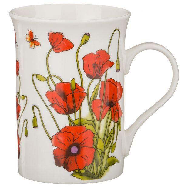 "Кружка ""цветы"" 350 мл. (Мин= 12шт./кор=48шт.)-482-049"