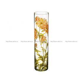Ваза хризантема желтая цилиндр диаметр=12 см. высота=50 см.