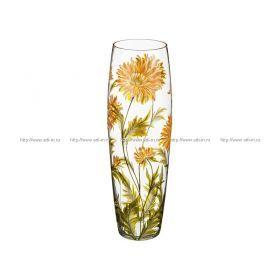 Ваза хризантема желтая коне диаметр=13 см. высота=50 см.