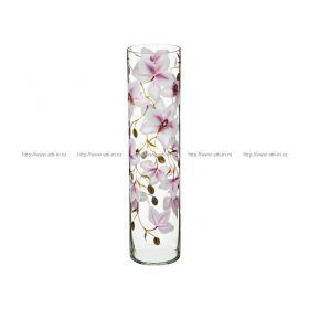 Ваза орхидея сиреневая цилиндр диаметр=12 см. высота=50 см.