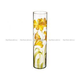 Ваза лилия желтая цилиндр диаметр=12 см. высота=50 см.