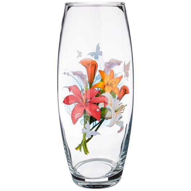 """Ваза """"цветы"""" высота=27см (кор=6шт.)-381-1026"""