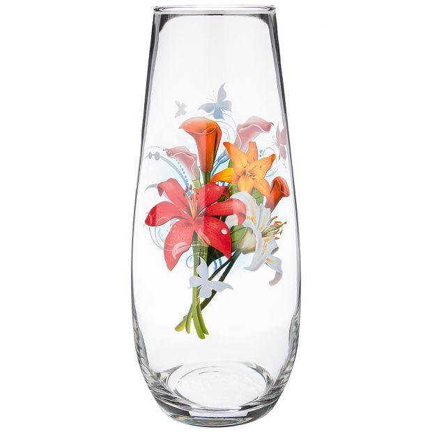 """Ваза """"цветы"""" высота=27см (кор=6шт.)-381-1025"""