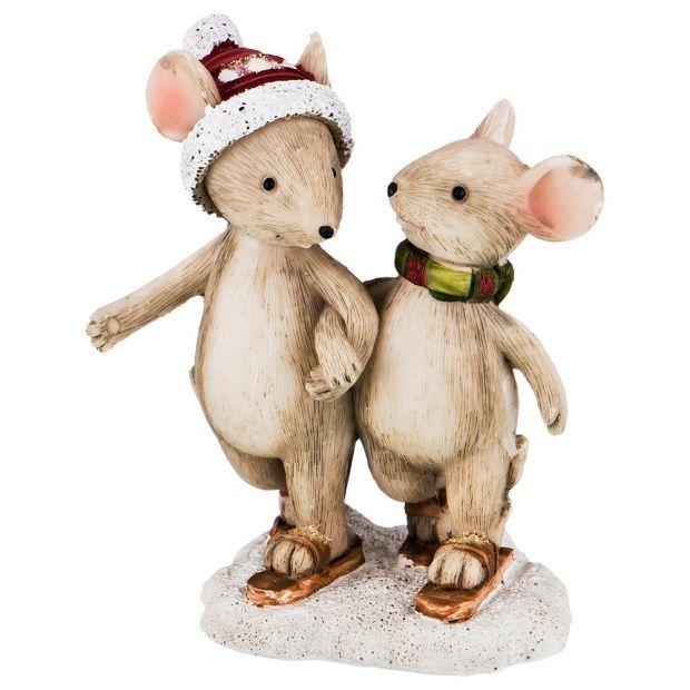 "Фигурка ""мышки"" 7*4,5*8,5 см. без упаковки (мал=6шт./кор=96шт.)-162-615"