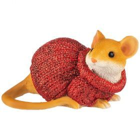 Фигурка мышка в свитере 7*3,5*5 см (мал=6шт./кор=120шт.)-117-311