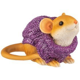 Фигурка мышка в свитере 7*3,5*5 см (мал=6шт./кор=120шт.)-117-312