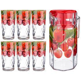 Набор: кувшин 1250 мл + 6 стаканов 250 мл.