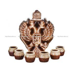 Водочно-коньячный набор герб штоф+6 рюмок 900/50 мл. без упаковки