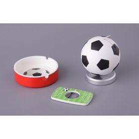 Набор подарочный футбол: пепельница+ открывалка+подставка для зубочисток 9*9*10/10*10*3/8*5*0,5 см