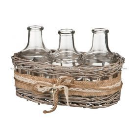 Набор ваз из 3 шт.диаметр=6,5 см.  высота=13 см.