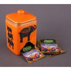 Банка для чайных пакетиков высота=14 см.(кор=24шт.)-54-204