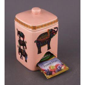 Банка для чайных пакетиков высота=14 см.(кор=24шт.)-54-203