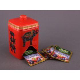 Банка для чайных пакетиков высота=14 см.(кор=24шт.)-54-205