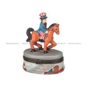 Шкатулка лошадь 8*3*4 см.