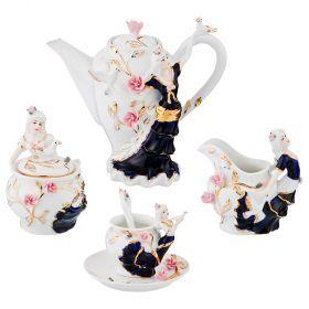 Кофейный набор на 6 персон 15 предметов 850/200/160/100 мл. с ложками-98-1583