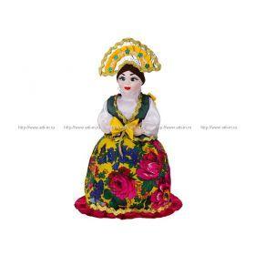 Кукла-грелка на чайник ручной работы высота=53 см. без упаковки