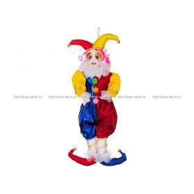 Кукла клоун сине-красный высота=55 см. без упаковки